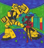Later On: Sari and Bumblebee by T-babe