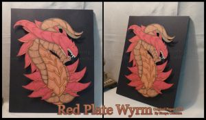 Red Plated Wyrm by StrayaObscura