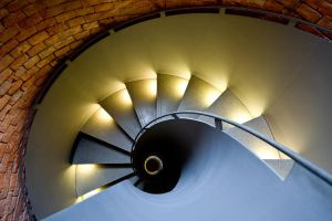 blue stairs yellow stairs by herbstkind