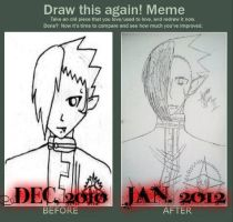Draw this again A year difference: Krory by Bloodregret
