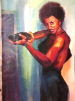 Pam Grier by irethlasombra