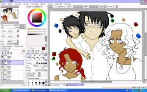 katherine and her family (work in progress) by iluvdogs101