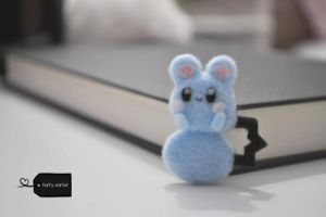Needle felted azurill