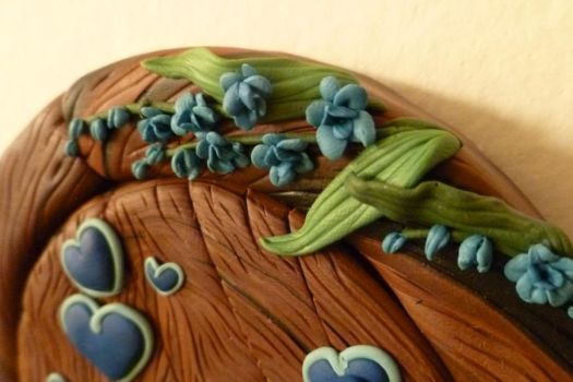 Orchid Wedding Door Closeup 2 by FlyingFrogCreations