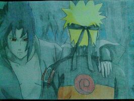 Sasuke and Naruto by DBZdrawingSTANIC
