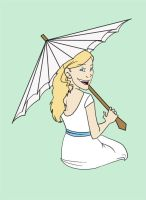 Girl with Umbrella by Jacksparrowsbabe