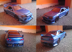 Black Napalm's Nissan Skyline gtr. Real Model car! by Mennorino