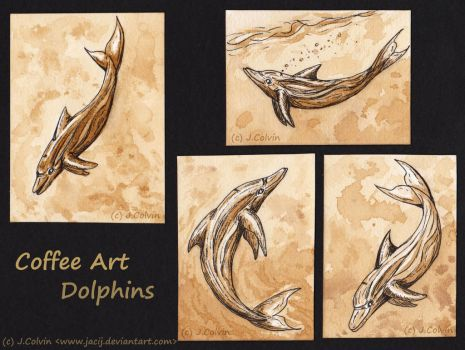 Coffee Dolphins by jacij