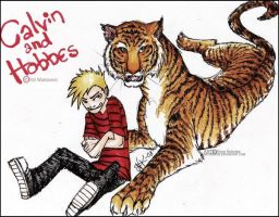 calvin and hobbes by grossclub