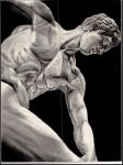 Discus thrower (discobolus) by Mentallycool