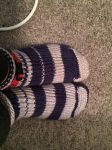 Say Hello to my unsymmetrical socks. by Amnshe-wolf