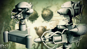 Fallout 3 Enemy Turret by transitoryspace