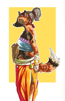 African wild dog Nubia by Cocodoo