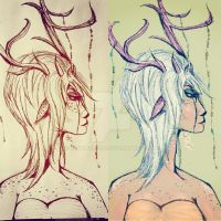 Faun (Before and After) by ChyTheNeko