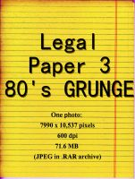 Legal Paper 3 - 80's grunge by Niedec-STOCK