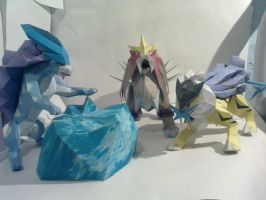 Raikou, Entei and Suicune by kyogre92