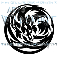 Wolf In Moon Tribal Tattoo by WildSpiritWolf