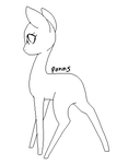 Long Legged pony base by Ponns