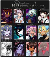 2015 Summary of Art by DeadmanJackalope