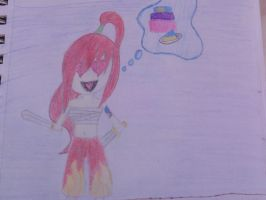 Chibi Erza: Fight for Cake by JuviaLoveS