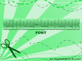 PincoyaBlack FONT by ObsessedCyrus