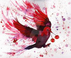Cherry Bombs stained the Blackbird red by Dragon-flame13
