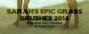 Sarah's Epic Grass Brushes 2014 by SarahScala