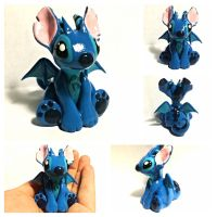 Stitch dragon by LittleCLUUs
