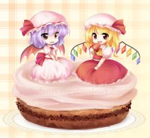 Remi and Flandre Cake by yolichan