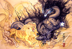 The Sun and Moon by Liger-Inuzuka