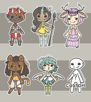 Fantasy Cheebs 2 -- { 1/6 OPEN } by Hardrockangel-Adopts