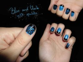 Blue And Black With Sparkle by Ajna357