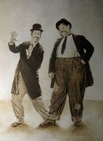 Laurel and Hardy by sekalf