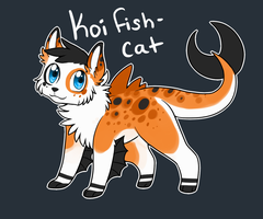 Koi Fish Cat Adoptable Auction by Darkaiya