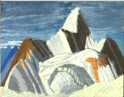 Mountain Peak Painting by Purdy26