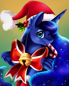 Christmas Luna Portrait by pridark