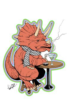 LGBT Dinosaurs: Ty the Triceratops by WolfeHanson