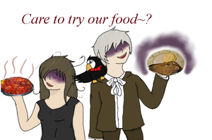 Care to try our food? by starclanwarrior0909