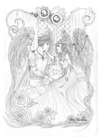 Angels -lineart- by ElinKarlsson