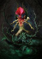 Thistle creature by KardisArt