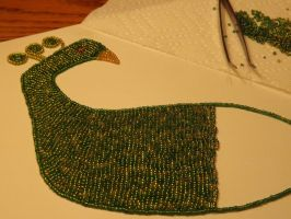 Beaded Peacock (Different Angle) by Ignaixx