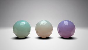 Sub Surface Scattering - Low polygon spheres by tokfrans