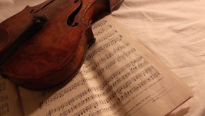 Violin and Sheet Music by mmarth-13