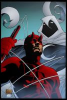 Daredevil and Moon Knight by K-Bol