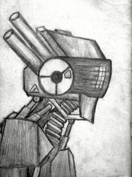 Robot (bored at school sketch) by MC-STEEL