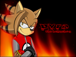 Comm (1/2)::Pyro the Hedgehog wallpaper by Nero-Blackwing