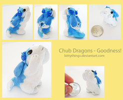 Chub Dragons - Goodness! - SOLD by Bittythings