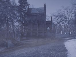 Dexter_Mausoleum_in_Blue_fog by steverlfs
