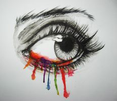 Crying Rainbow - Watercolor by Finihous