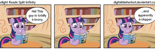 Twilight Reads Split Infinity by DigitalDasherBot